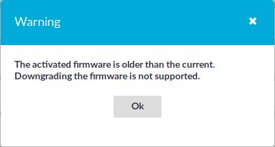 Firmware activation error