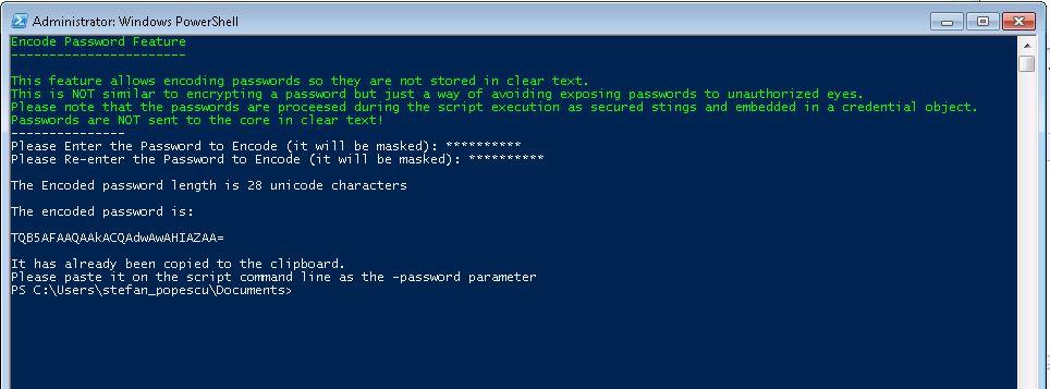 Encode Password