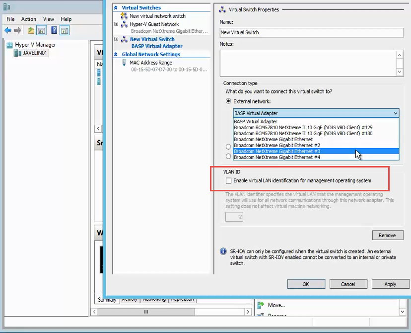 Virtual Machine after Hyper-V Virtual Export is missing a