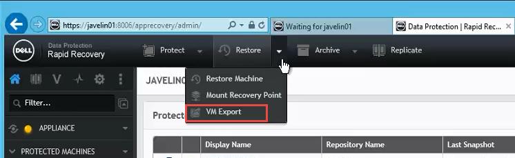 Select VM Export