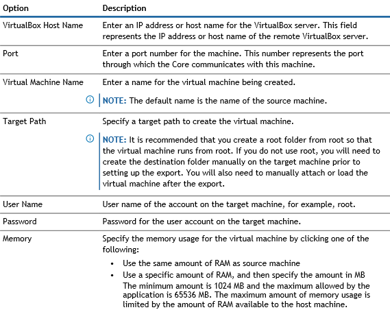 VirtualBox Options