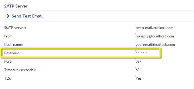 Outlook SMTP Settings