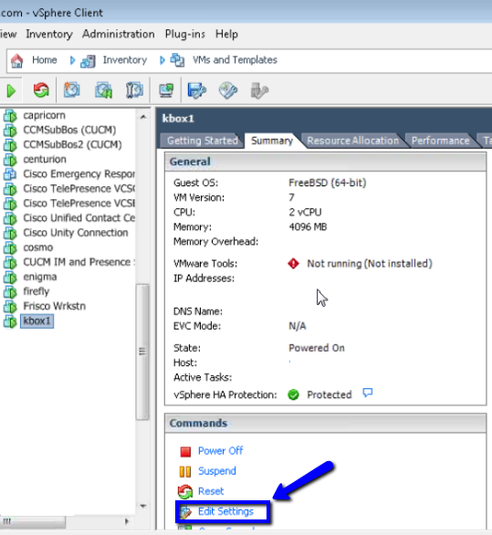 Manual mount the VMware Tools ISO in the virtual CDDVD (192295)