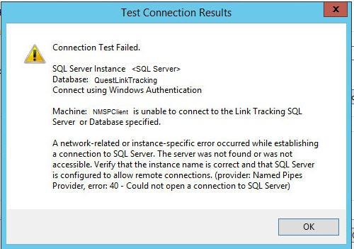 Link Tracking Error