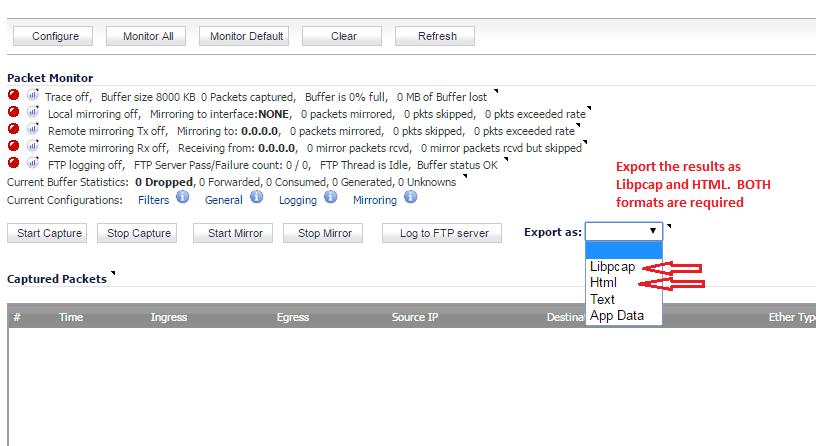 height=300 src=https://prod-support-images-cfm.s3.amazonaws.com/KB_1-2Q24N6U_Capture1.png width=500 /></p><ol style=margin-left:0.375in;direction:ltr;unicode-bidi:embed;margin-top:0in;margin-bottom:0in;font-family:Calibri;font-size:11pt; type=1></ol><p lang=en-US style=margin:0in;font-family:Calibri;font-size:11.0pt;></p><ol style=margin-left:0.375in;direction:ltr;unicode-bidi:embed;margin-top:0in;margin-bottom:0in;font-family:Calibri;font-size:11pt; type=1><li lang=en-US style=margin-top:0;margin-bottom:0;vertical-align:middle; value=4><span style=font-size:11pt;>Klicken Sie      auf ''Start Capture'' um den Capture zu starten. ''Stop Capture'' stoppt den Capture.</span></li></ol><p lang=en-US style=margin:0in;font-family:Calibri;font-size:11.0pt;></p><ol style=margin-left:0.375in;direction:ltr;unicode-bidi:embed;margin-top:0in;margin-bottom:0in;font-family:Calibri;font-size:11pt; type=1><li lang=en-US style=margin-top:0;margin-bottom:0;vertical-align:middle; value=5><span style=font-size:11pt;>Die  Einstellungen sollen in HTML und Libpcap Formate exportiert werden sowie      im untenen Screenshot beschrieben.</span></li></ol><p></p><p><img alt=
