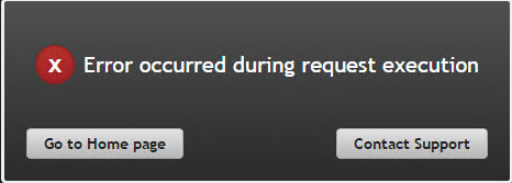 Error occurred during request execution
