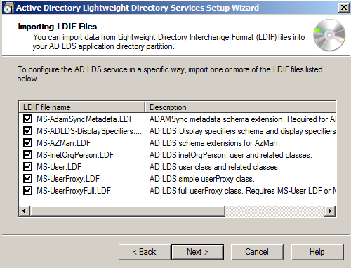 How to configure the Application Directory Partition and