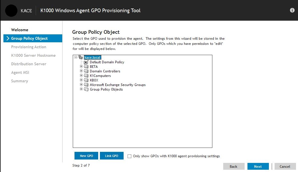 Group Policy Object (GPO) Provisioning Wizard Tool step-by-step (217592)