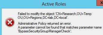 BypassSecurityGroupManagerCheck error