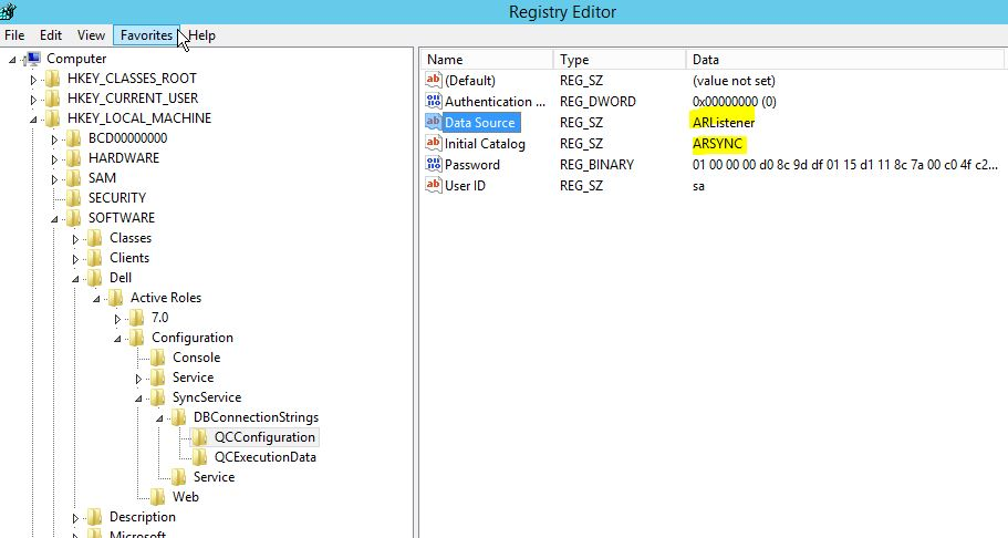 sync service registry configuration