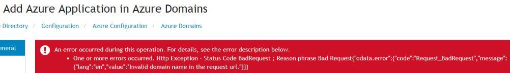 Invalid Domain Error