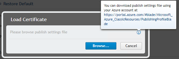 How to Import an Azure Management Certificate into a Rapid