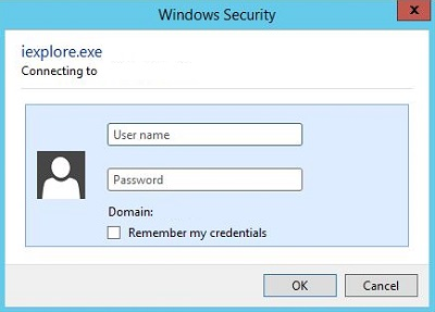 How to avoid the domain credential prompt when using windows