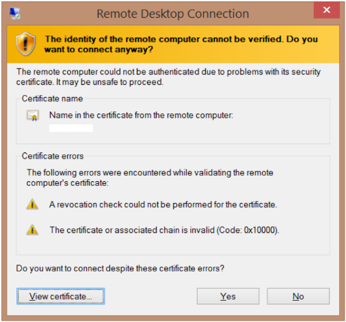 Validating identity certificate