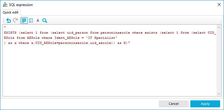Custom SQL Expression