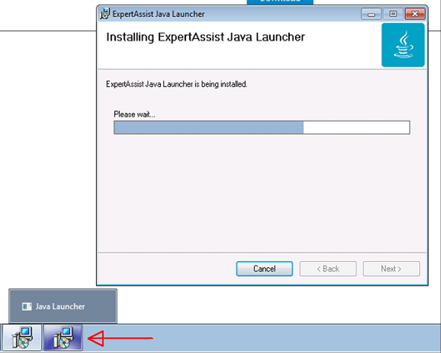 Open JDK for Expert Assist Java Launcher is not getting installed