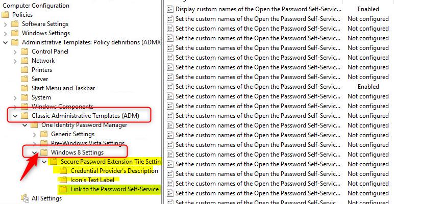 SPE Offline password reset Administrative template Icon's