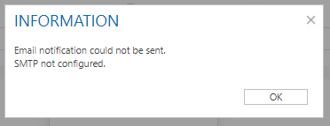 email notification error