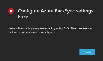 Synchronization Service error