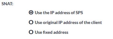 SNAT, Use the IP address of SPS