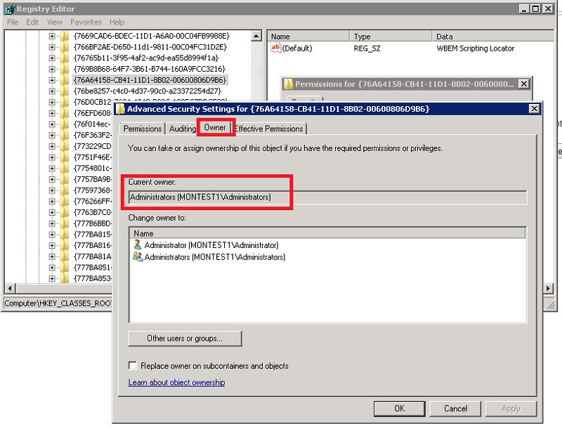 Configuring WMI registry settings for Windows monitoring (65870)