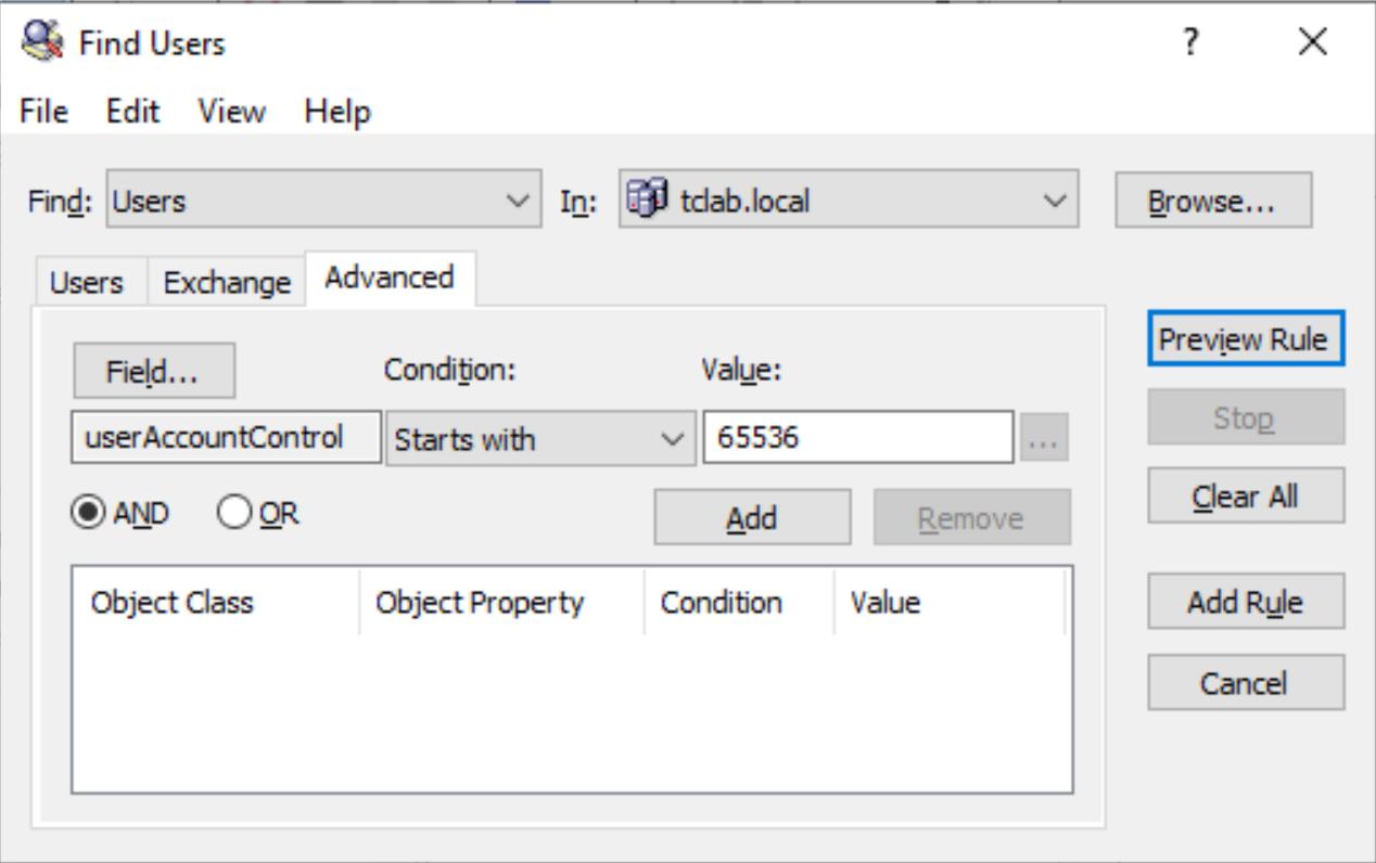 UserAccountControl Bitwise AND