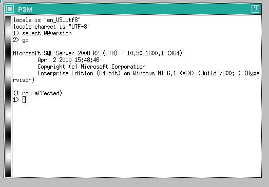 PSM Integration with the MS SQL Server platform (93584)