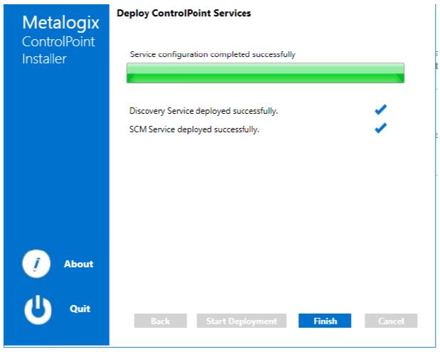 Deploy ControlPoint Services