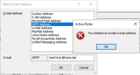 Active Roles MMC Console error