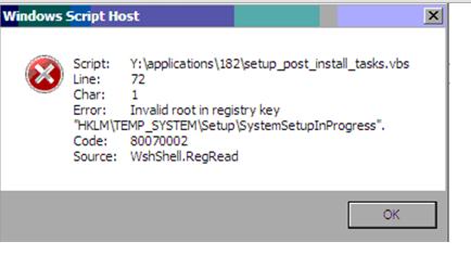 Invalid root in registry key