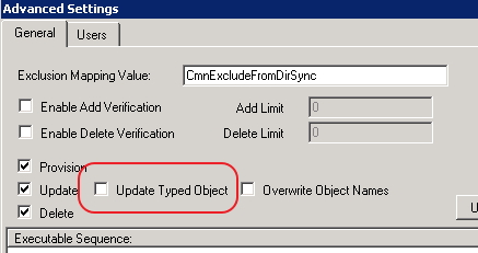 Screen shot of Update Typed Object