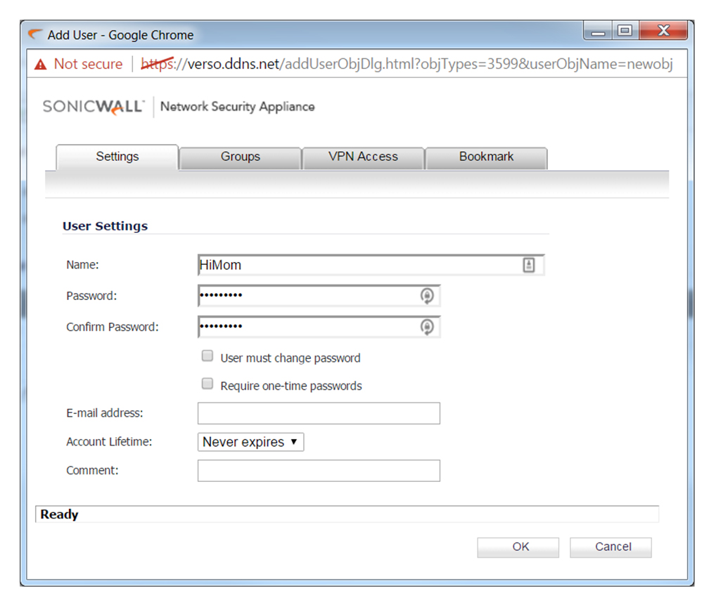 Under The Settings Tab Give The Desired Name And Password